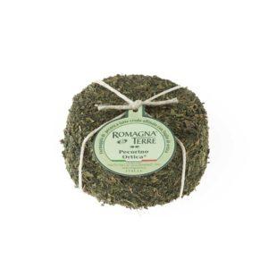 Formaggio di pecora a latte crudo affinato con foglie di ortica prodotto in Italia senza coloranti né conservanti