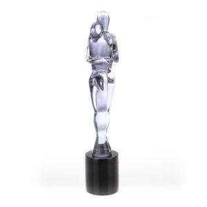 Statua Amanti in vetro fuso fatto a mano