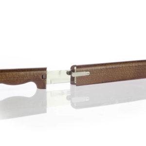 Coltello salumi con fodero in legno