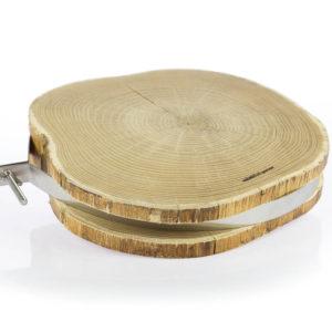 Tagliere in legno di Frassino con fascia in acciaio