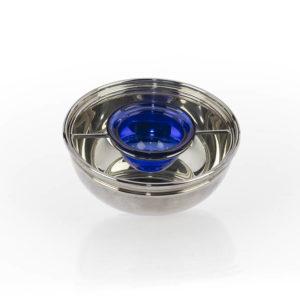 Porta Caviale Argentato diametro 15 cm - h. 6 cm