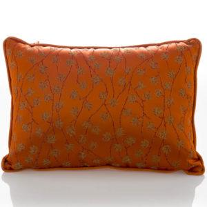 Cuscino Arancio Etro Home Collection con disegno foglie