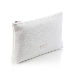 Pochette in Pelle di Vitello colore bianca