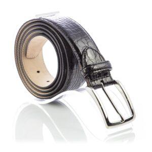 Cintura in Vera Pelle di Coccodrillo colore nera