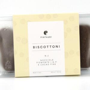 Biscottoni n.2 - Nocciole Piemonte IGP e cacao fine 240 g - Pintaudi