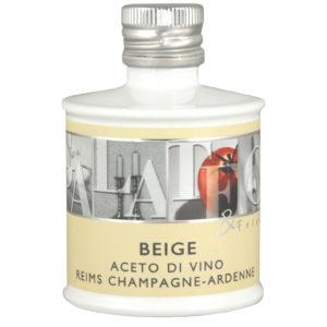 Aceto di vino bianco 7% acidità proveniente dalla regione di Reims e invecchiato in botti di rovere