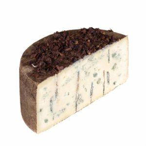 Formaggio di pecora erborinato affinato con fiori di papavero prodotto in Italia senza coloranti né conservanti