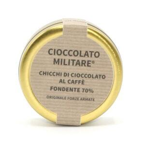Chicchi di Cioccolato al Caffè Fondente 50 g - Cioccolato Militare