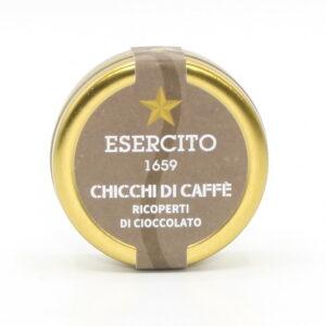 Chicchi di Caffè Ricoperto di Cioccolato Fondente 70% 45 g - Cioccolato Militare