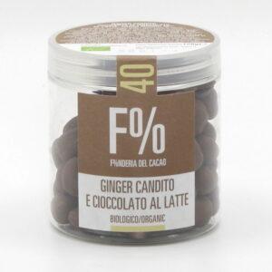 Dragées Cioccolato al Latte e Ginger Candito Bio 150 g