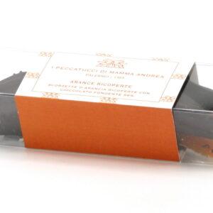 Scorzette d'Arancia Ricoperte di Cioccolato Fondente 130 g